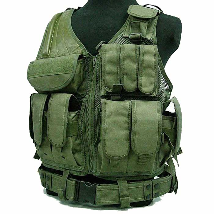 Molle Tactical Vest Airsoft Hunting Combat Police Army Vest OD