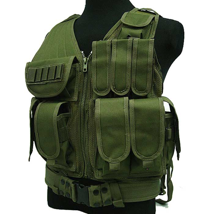 Mesh Tactical Military Vest Molle Combat Airsoft Protective Vest OD