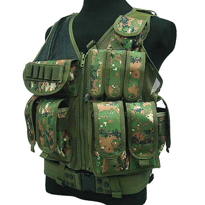 Mesh Tactical Airsoft Hunting Vest Military Combat Vest Molle LBV Ca