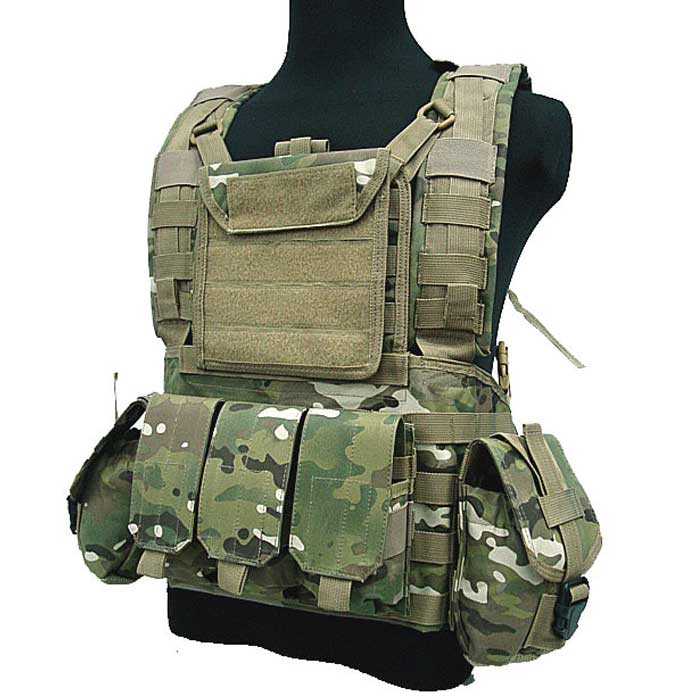 Military Tactical Molle Vest Airsoft Combat Vest RRV Water Bag CP
