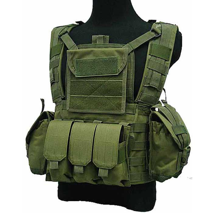 Military Tactical Molle Vest Airsoft Combat Vest RRV Water Bag OD