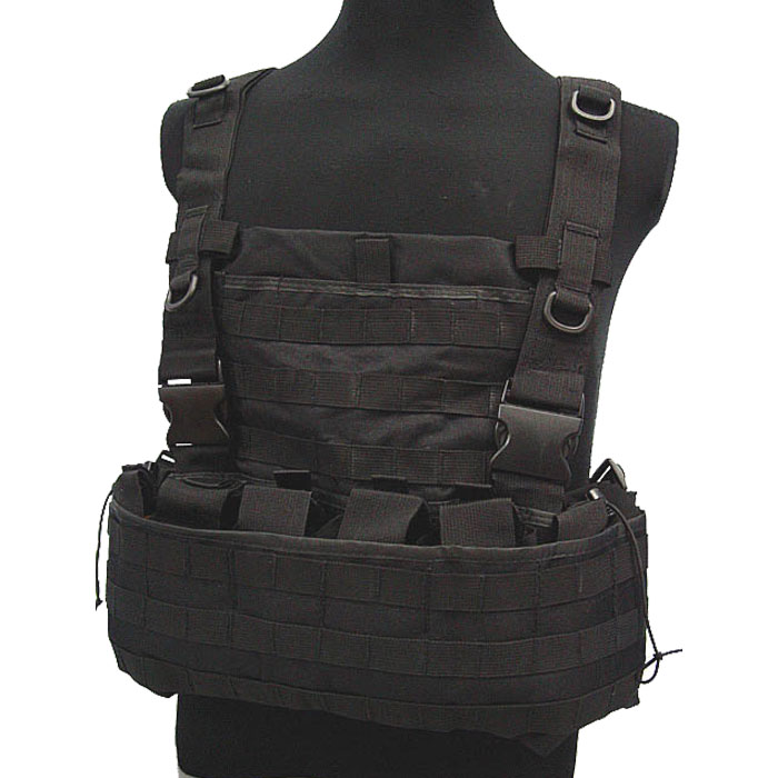 Tactical Module Vest Military Combat Molle Vest w Water Bag Pouch BK