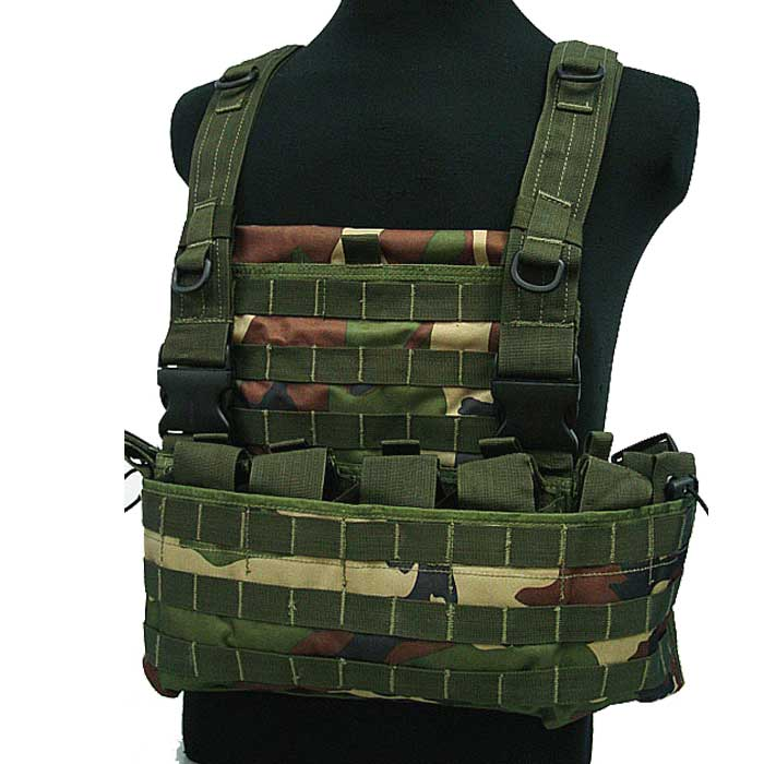 Tactical Module Vest Military Combat Molle Vest w Water Bag Pouch CL