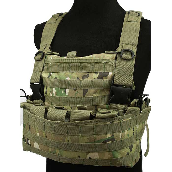 Tactical Module Vest w Water Bag Pouch Military Combat Molle Vest CP