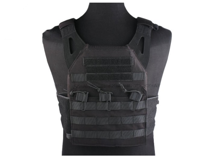 Durable 1000D JPC Tactical Vest Molle Military Police Vest BLACK