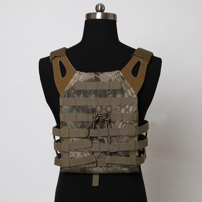 Durable 1000D JPC Tactical Vest Molle Airsoft Compact Vest Badlands