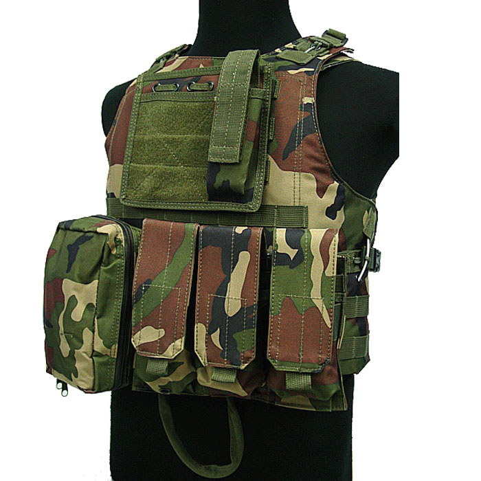 Military Vest Molle Combat Amphibious Tactical Assault Vest w Mag CL