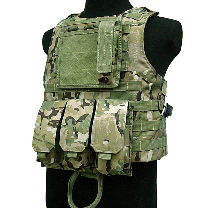 Military Vest Tactical Amphibious Assault Vest Molle Combat w Mag CP