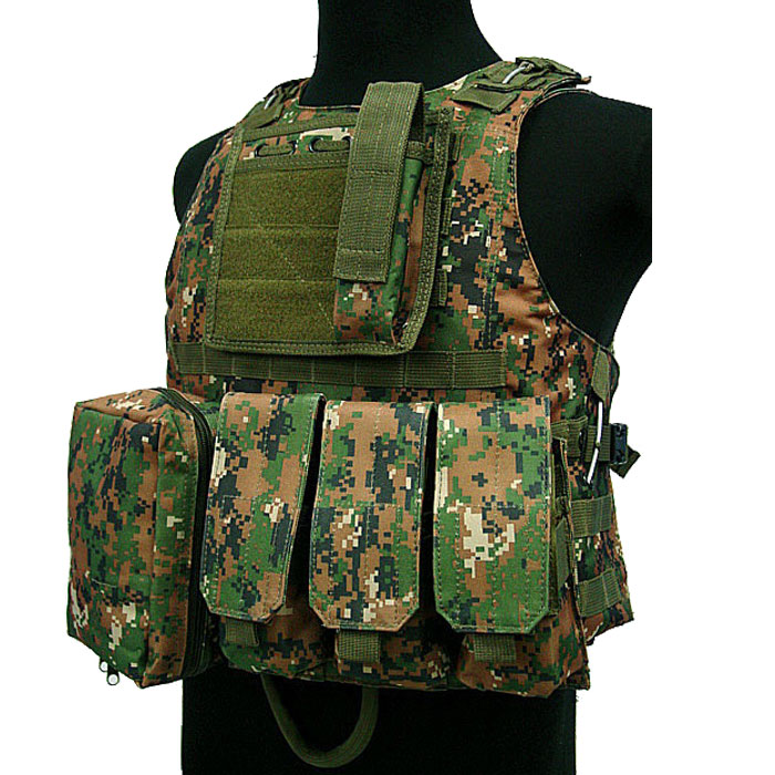 Military Vest Tactical Amphibious Assault Vest Molle Combat w Mag DC